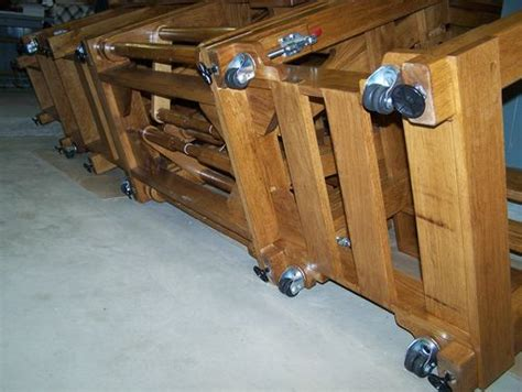 how to add casters to table legs adding leg levelers and casters to a table by bhaupt