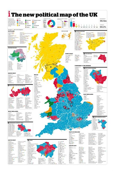 map uk election results 12 maps that help show the general election result in a