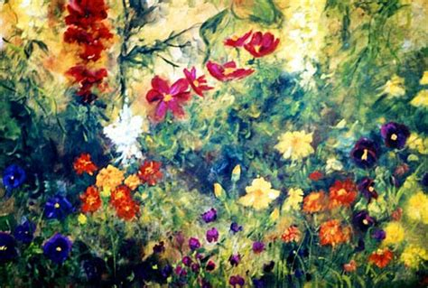 Flower Garden Painting Marina Petro Adventures In Daily Painting January 2014
