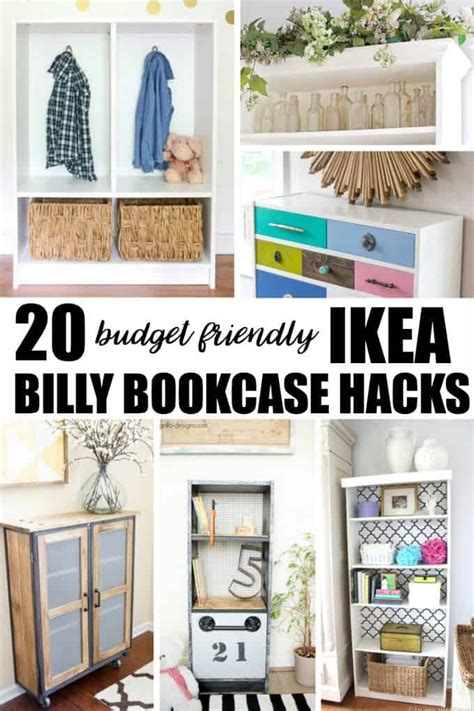 Built In Billy Bookcase 20 Budget Friendly Ikea Billy Bookcase Hacks Simply Stacie