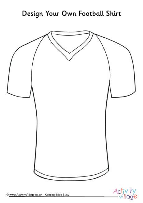 Design Your Own Football Shirt Football Jersey Template