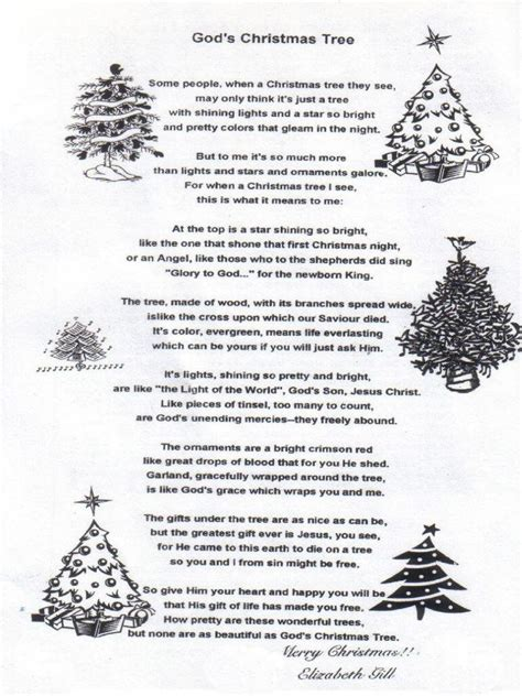 christmas poem quot god s christmas tree quot holiday pinterest