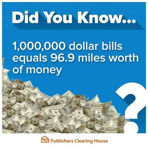Pch One Million - how much is one million dollars really pch blog