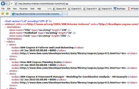 exist tutorial xml database ibm cognos proven practices ibm cognos bi xml as a data
