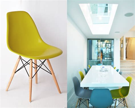 Coloured Eames Chairs by Get Fruity With Brightly Coloured Kitchen Dining Chairs