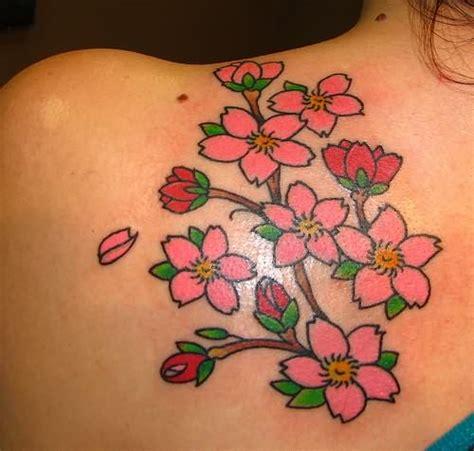 tattoo flower blossom attractive cherry blossom flowers tattoos