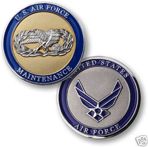 air challenge coin usaf air maintenance silver gold challenge coin