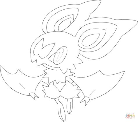 pokemon coloring pages inkay noibat coloring page free printable coloring pages