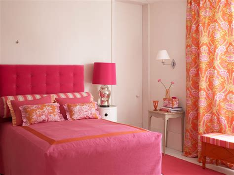 pink and orange bedroom 50 bright and colorful room design ideas digsdigs