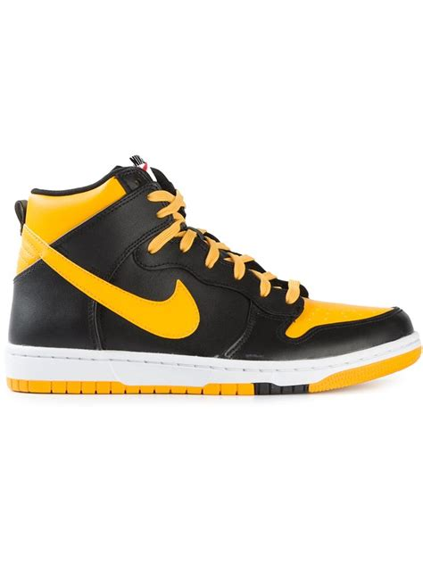 dunk sneakers lyst nike air dunk leather sneakers in black for