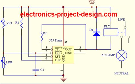 555 timer pull resistor basic electronic project ldr circuit using 555 timer ic
