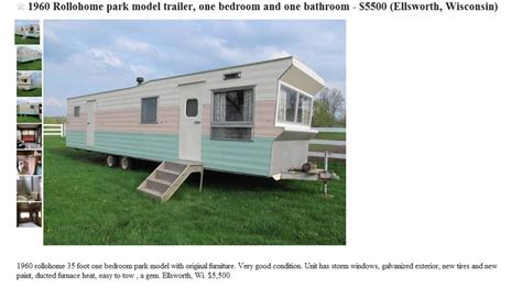 house trailers for sale vintage moble homes vintage 1960 time capsule rollohome