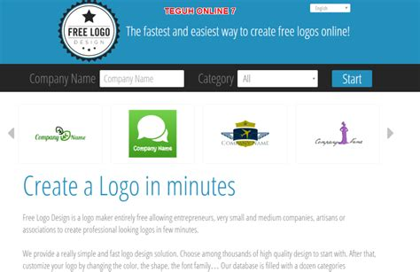 online design your own logo 7 situs cara membuat logo keren online gratis untuk website