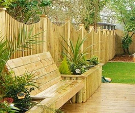 flower bed bench home garden fencing with bench and raised flower bed