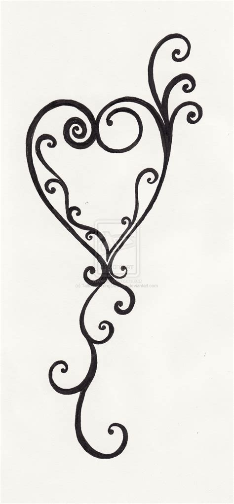 swirly tattoo designs swirl designs cliparts co