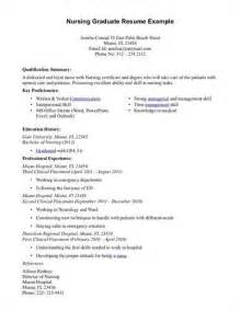 new graduate resume sle resume exle 55 simple nursing resumes 2016 sle