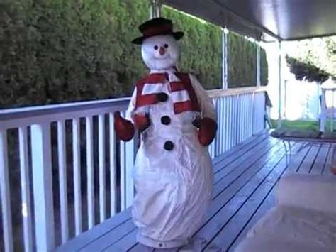 life size animated gemmy singing dancing snowman sold