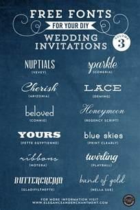 free fonts for diy wedding invitations volume 3