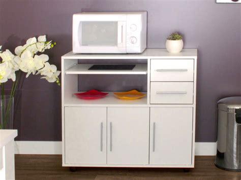 muebles de cocina para microondas mueble para microondas con ruedas blanco bertille