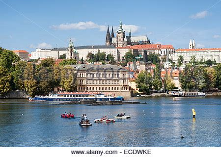 paddle boats on the vltava river prague czech republic paddle boats in the shape of cars