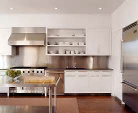 modern white kitchen backsplash inspiration from kitchens with stainless steel backsplashes