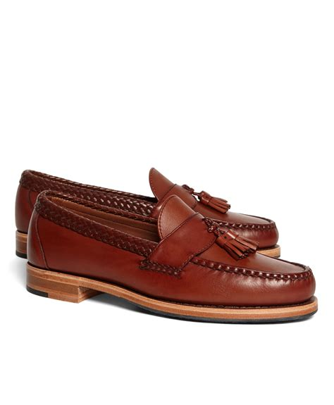 brothers tassel loafer brothers braid tassel loafers in brown