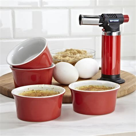Kitchen Stuff by Ksp Crackle Creme Brulee Torch With Ramekin Set Of
