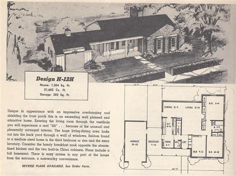 1950s ranch house floor plans 1950 ranch house plans