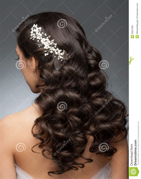 wedding hairstyles long brunette bridal hairstyle royalty free stock images image 36657809