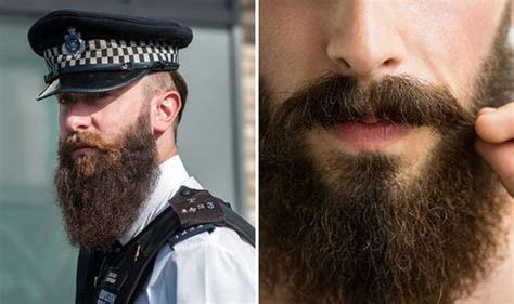 police have been banned from having beards uk news