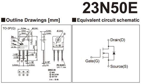 transistor mosfet canal p datasheet 23n50e datasheet 500v n channel power mosfet fuji