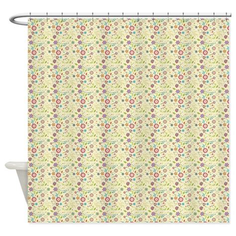 whimsical curtains whimsical retro floral shower curtain by icandyproducts