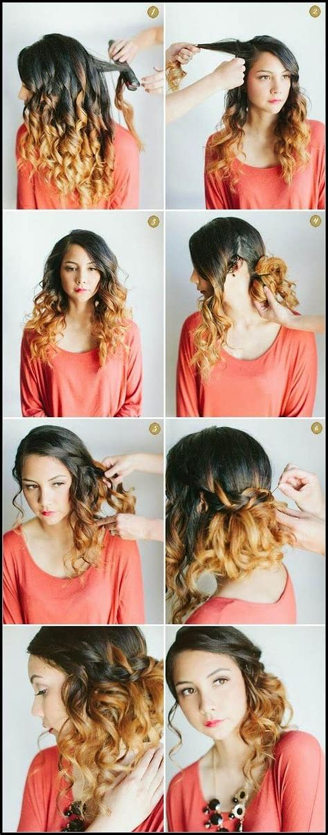hairstyles curly hair steps 25 diy hairstyles you can do with these step by step