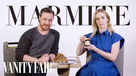 james mcavoy emily blunt emily blunt and james mcavoy explain a typical british day