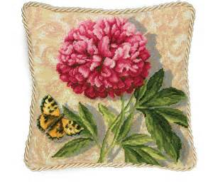 dimensions needlepoint kit peony pillow 42 50 picclick
