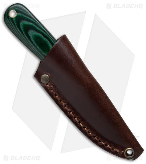 enzo knife enzo knives necker 70 fixed blade knife green micarta 2 5
