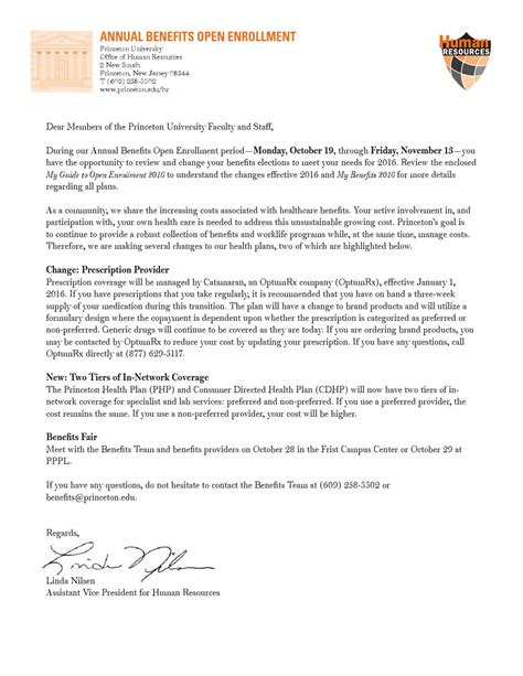 princeton cover letter open enrollment cover letter for 2016 by princeton