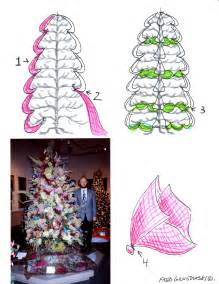 how to decorate a christmas tree with tulle fred