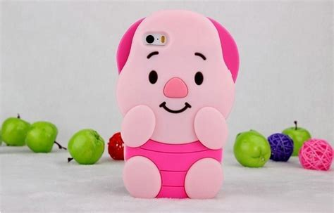 3d Piglet new pink 3d piglet pig movable ear soft cases iphone