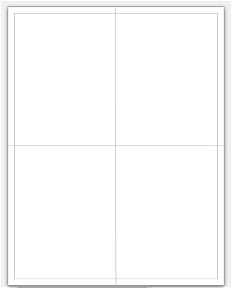 blank quarter fold card template pacq co