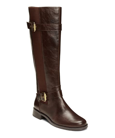 a2 by aerosoles brown ride out stretch panel wide calf