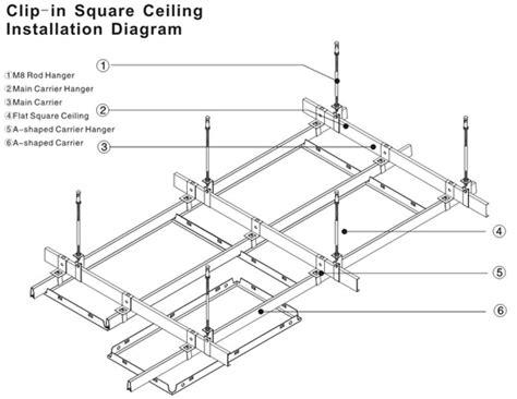 armstrong decken montage la clip di alluminio industriale nel soffitto piastrella 2