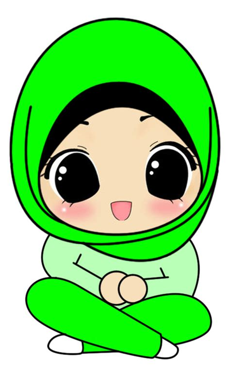 doodle kartun muslimah clipart best