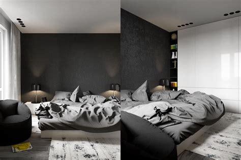 chambre a coucher gris et noir d 233 co chambre 224 coucher adulte en tons fonc 233 s actuelle et