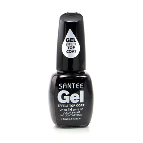 gel top coat no uv light amazon com santee 6 gel effect shine nail no uv