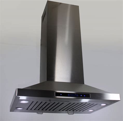 Under Cabinet Led Lights Kitchen by 36 Quot Island Mount Ductless Ventless Stainless Steel Range