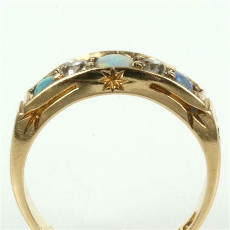 buy antique opal and ring made in 1884 sold items