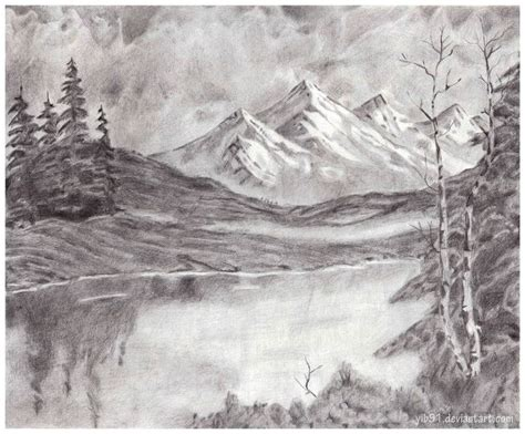 landscapes to draw mountain landscape by yib91 deviantart on deviantart drawing tips pencil