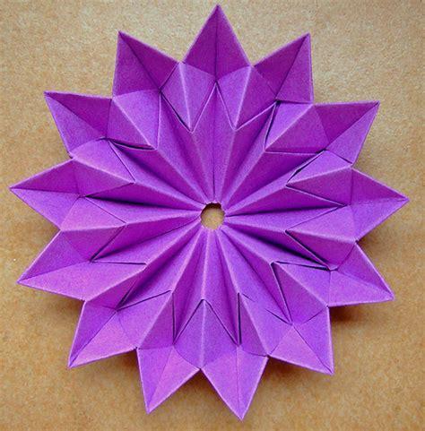 Origami Modular Flower - origami flower modular comot