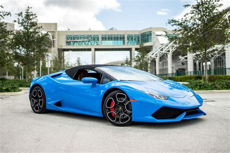 Lamborghini Huracan Spyder Blue   Miami Exotics   Exotic